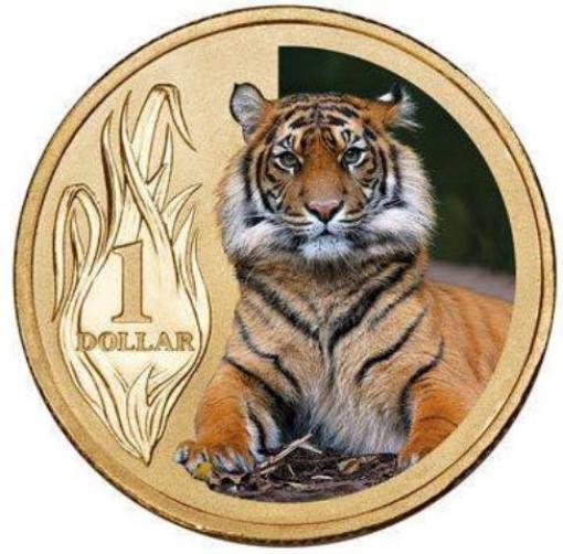 Picture of 2012 Australian Sumatran Tiger $1 Coin