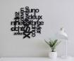 Black Letter Design Wall Clock