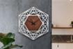 Meshed Hexagon Design Wall Clock White