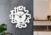 White Number Design Wall Clock