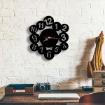 Black Number Design Wall Clock