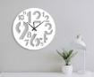 White Number Round Design Wall Clock