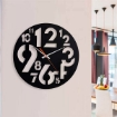 Black Number Round Design Wall Clock