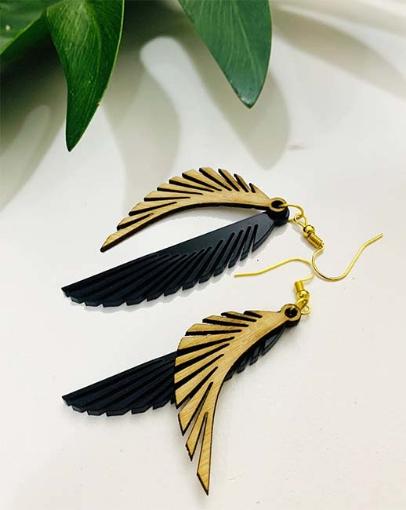 Duplet Feather Earrings