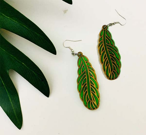 Duplet Leaf Earrings