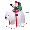 Picture of Inflatable Christmas Santa Snowman with LED Light Xmas Decoration Outdoor Type 9 | Free Delivery