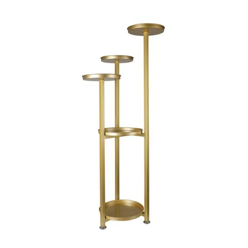 Picture of Levede Plant Stand Outdoor Indoor Flower Pots Rack Garden Shelf Gold 100CM | Free Delivery