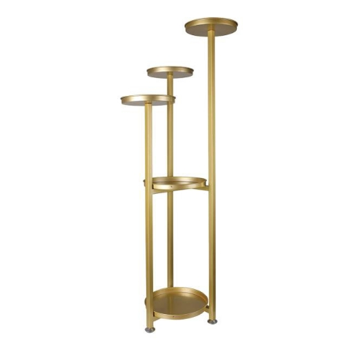 Picture of Levede Plant Stand Outdoor Indoor Flower Pots Rack Garden Shelf Gold 120CM | Free Delivery