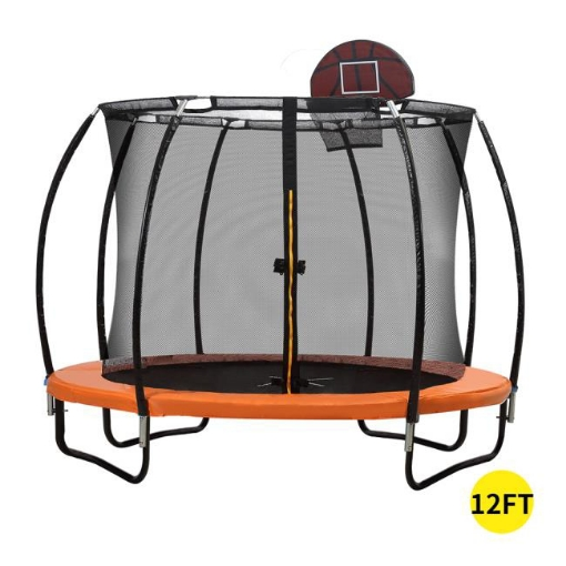 Picture of Trampoline Round Trampolines Mat Springs Net Safety Pads Cover Basketball 12FT | Free Delivery