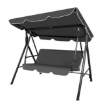 Picture of Swing Chair Hammock Outdoor Furniture Garden Canopy Cushion 3 Seater Chairs Grey | Free Delivery