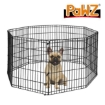"""Picture of PaWz Pet Dog Playpen Puppy Exercise 8 Panel Fence Black Extension No Door 42"""" 
