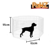 """Picture of PaWz Pet Dog Playpen Puppy Exercise 8 Panel Enclosure Fence Silver With Door 36""""   Free Delivery"""