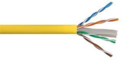 Picture of Cat6 Yellow Solid PVC | Free Delivery