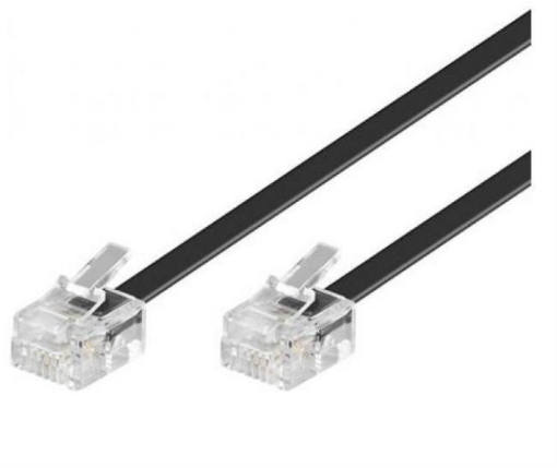 Picture of 1m Flat telephone cable RJ12-RJ12 | Free Delivery