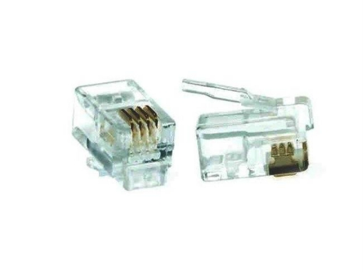 Picture of RJ11 Crimp Plug 4P4C (100PK) | Free Delivery