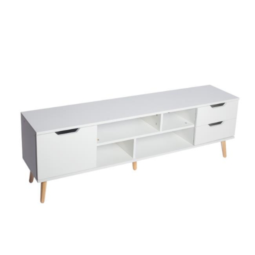 Picture of Levede TV Cabinet Entertainment Unit Stand Storage Drawers Wooden Shelf White | Free Delivery