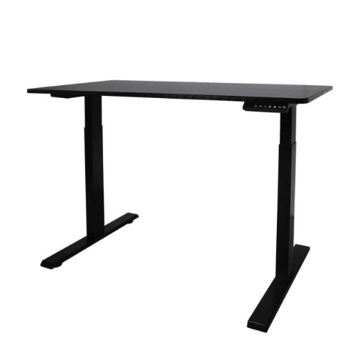 Picture of Office Computer Desk Height Adjustable Sit Stand Motorised Electric Table Riser | Free Delivery