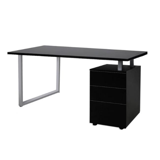 Picture of Office Computer Desk Student Laptop Study Table Home Workstation Shelf Desks Black | Free Delivery