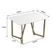 Picture of Dining Table Legs Steel Coffee Modern White Top Tables Shelf Industrial Metal | Free Delivery