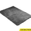 Picture of Ultra Soft Anti Slip Rectangle Plush Shaggy Floor Rug Carpet 120x170cm Charcoal | Free Delivery