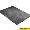 Picture of Soft Anti Slip Rectangle Plush Shaggy Floor Rug Carpet in Charcoal 60x220cm | Free Delivery