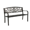 Picture of Garden Bench Seat Outdoor Furniture Cast Iron Patio Benches Seats Lounge Chair | Free Delivery