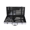 Picture of 10Pcs Stainless Steel BBQ Tool Set Outdoor Barbecue Utensil Aluminium Grill Cook | Free Delivery