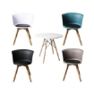 Picture of Office Meeting Table Chair Set 4 PU Leather Seat Dining Tables Chair Round Desk Type 4 | Free Delivery