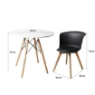 Picture of Office Meeting Table Chair Set 4 PU Leather Seat Dining Tables Chair Round Desk Type 5 | Free Delivery