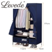 Picture of Levede Portable Wardrobe Organiser Clothes Closet Storage Cabinet Navy Blue | Free Delivery