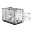 Picture of PaWz Pet Dog Cage Crate Metal Carrier Portable Kennel With Bed 30"