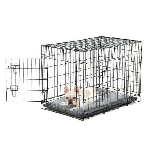 Picture of PaWz Pet Dog Cage Crate Metal Carrier Portable Kennel With Bed 36"