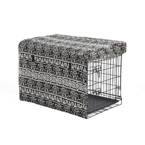 Picture of PaWz Pet Dog Cage Crate Metal Carrier Portable Kennel With Cover 42"