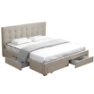 Picture of Levede Bed Frame Double King Fabric With Drawers Storage Wooden Mattress Grey | Free Delivery