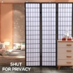 Picture of Levede 3 Panel Free Standing Foldable  Room Divider Privacy Screen  Black Frame | Free Delivery