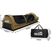 Picture of Mountview Double Swag Camping Swags Canvas Dome Tent Hiking Mattress Khaki | Free Delivery
