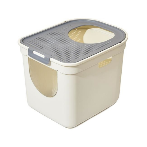 Picture of Cat Litter Box Fully Enclosed Kitty Toilet Trapping Sifting Tray Odor Control | Free Delivery