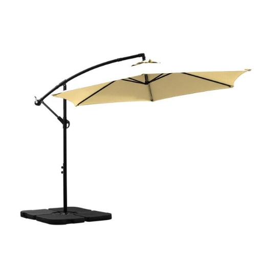 Picture of 3M Outdoor Umbrella Cantilever Umbrellas Base Stand UV Shade Garden Patio Beach | Free Delivery
