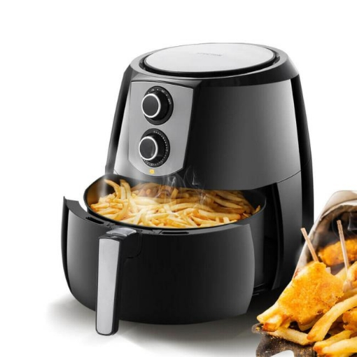 Picture of Spector 1800W 7L Air Fryer Healthy Cooker Low Fat Oil Free Kitchen Oven in Black | Free Delivery