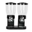 Picture of Double Cereal Dispenser Dry Food Storage Container Dispense Machine Black   Free Delivery