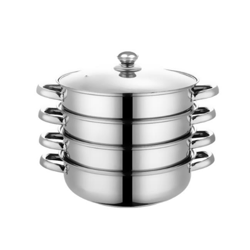 Picture of 4 Tier Stainless Steel Steamer Meat Vegetable Cooking Steam Hot Pot Kitchen Tool | Free Delivery