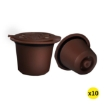Picture of 10x Refillable Reusable Coffee Filter Capsules Pods Pod for Nespresso Machine Grey   Free Delivery