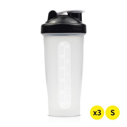 Picture of 3x 700ml GYM Protein Supplement Drink Blender Mixer Shaker Shake Ball Bottle   Free Delivery