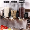 Picture of Wall Mounted Triple Cereal Dispenser Dry Food Storage Container Dispense Machine | Free Delivery