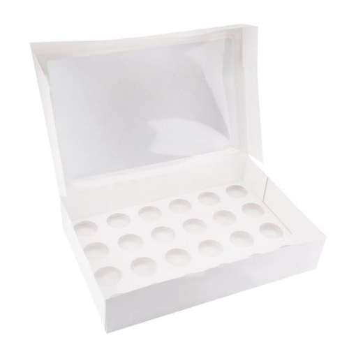 Picture of 24 Holes Cupcake Boxes 5/20 Pk Window Face With Inserts Cake Boxes Board | Free Delivery