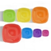 Picture of Set of 7 Reusable Bowl Food Fresh Keeping Sealing Lid Container Cover Plastic AU | Free Delivery