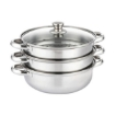 Picture of 3 Tier Stainless Steel Steamer Meat Vegetable Cooking Steam Hot Pot Kitchen Tool | Free Delivery
