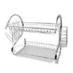 Picture of 2 Layer Dish Drainer Cutlery Holder Rack Drip Storage Stainless Steel Dish Rack | Free Delivery