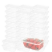 Picture of 1000 Pcs 750ml Take Away Food Platstic Containers Boxes Base and Lids Bulk Pack | Free Delivery