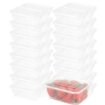 Picture of 200 Pcs 750ml Take Away Food Platstic Containers Boxes Base and Lids Bulk Pack | Free Delivery